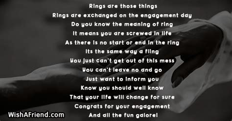 wedding ring poem meaning rings are those things engagement poem
