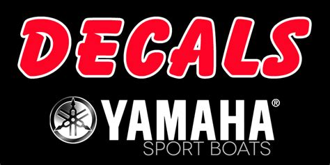 Yamaha Jet Boat Warning Sticker by Yamaha Jet Ski Stickers Kamos Sticker