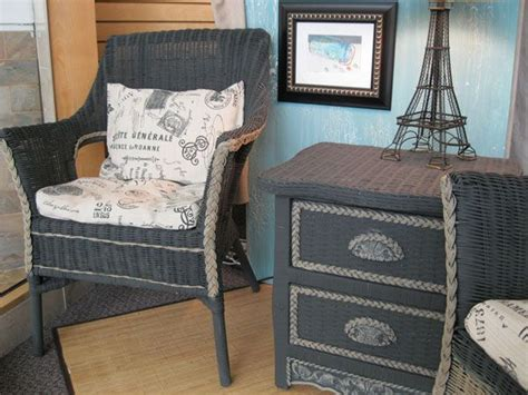wicker furniture painted  chalk paint  annie sloan