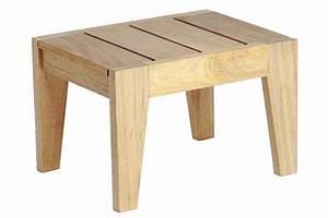 Petite table basse en bois pour bain de soleil, haut de gamme La Galerie du Teck