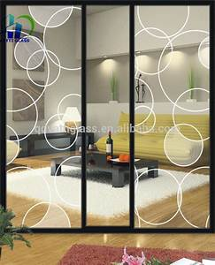 Acid Etched Door Glass Wall Decorative Panels Tempered ...