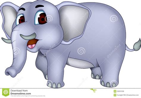 Cute Cartoon Elephant Wallpaper