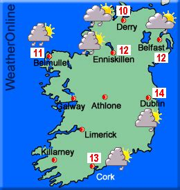 weather in ireland today and tomorrow