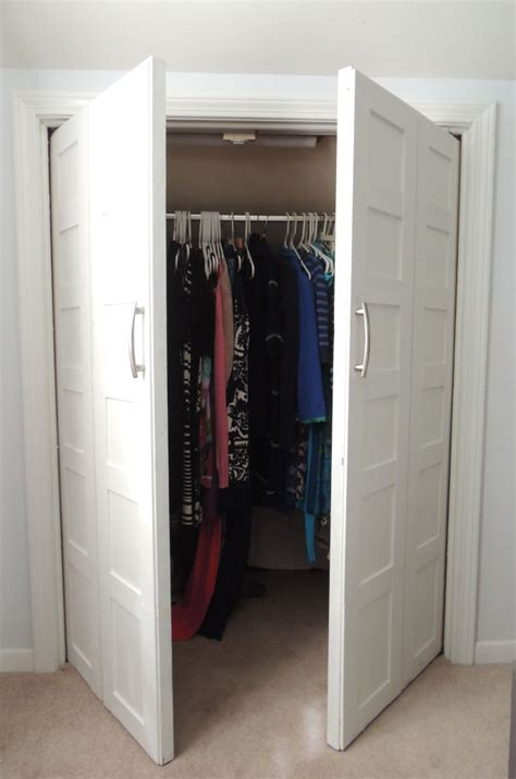 remodelaholic bi fold to paneled door closet makeover