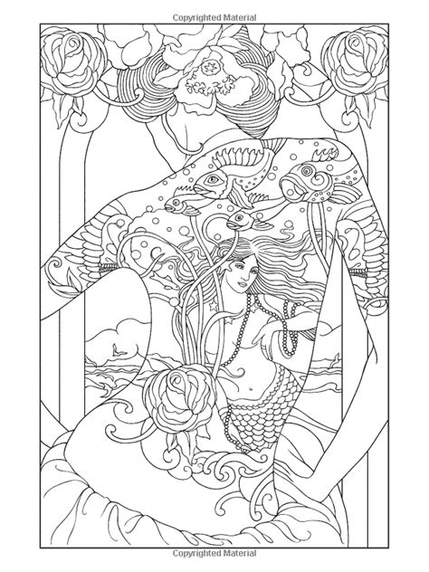 Art Nouveau Coloring Pages | Body Art: Tattoo Designs Coloring Book | coloring pages | tattoo