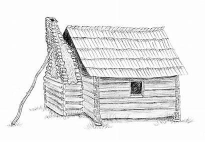 Chimney Drawing Fireplace Bricks Build Mortar Building
