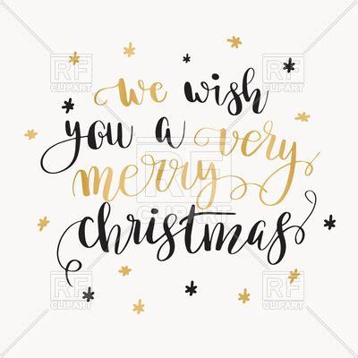 holiday poster with inscription quot we wish you a very merry christmas quot vector illustration of