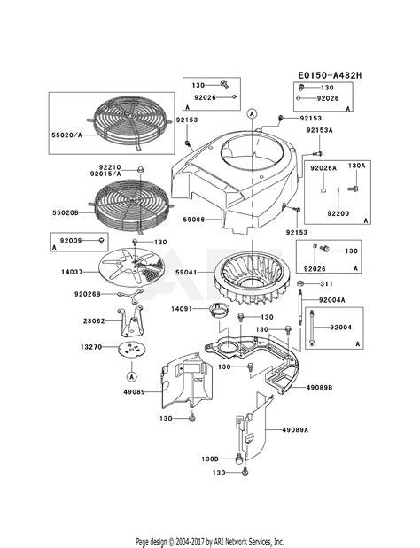 kawasaki fhv   stroke engine fhv parts diagram