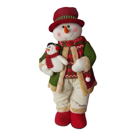 large plush standing snowman christmas decoration cm