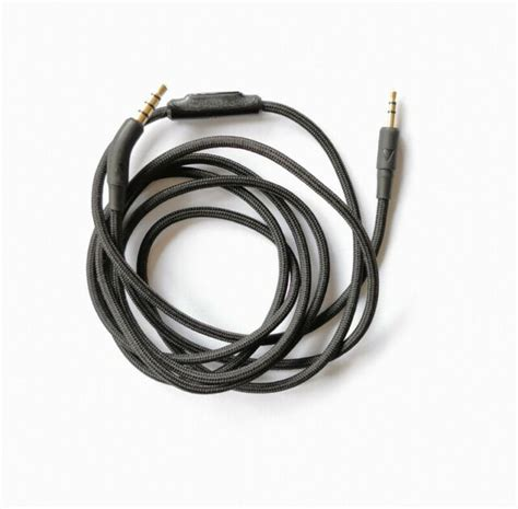 black nylon audio cable remote mic  bw bowers