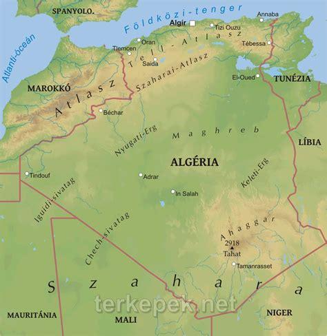 Algéria domborzati térképe