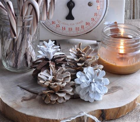 bleached  scented pine cone crafts