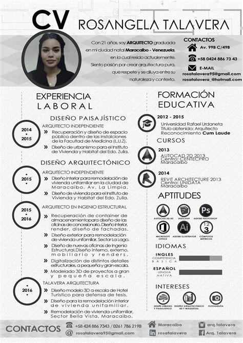 curriculum template espanol arquitecto curriculum vitae versi 243 n espa 241 ol venezuela