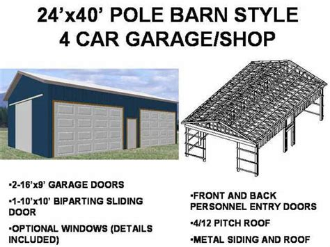 9 pole barn plans 1 standard garage plan 1 shed plan and a free cabin plan only 29 99 sds plans