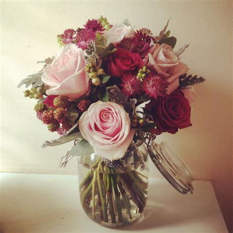 jar flower arrangement autumn wedding flowers in bristol the shed