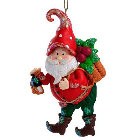 set of 3 garden gnome claydough tree decorations