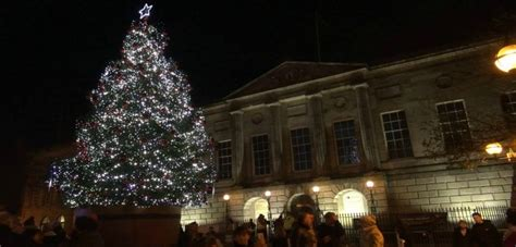 stafford people turn out for christmas lights switch on