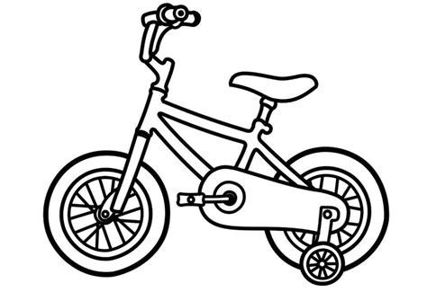 belajar mewarnai gambar sepeda untuk anak tk