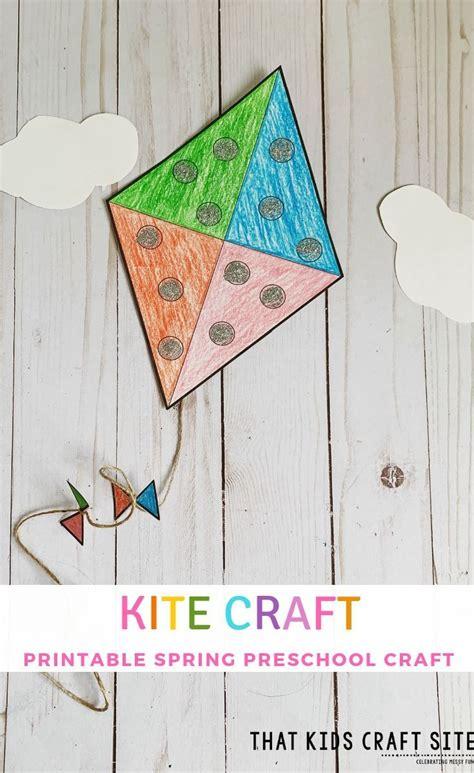 kite craft  preschool  printable template  kids craft site kites craft spring