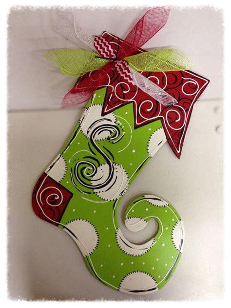 christmas stocking wooden door hanger masterpiece mixers