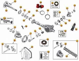 Dana 44 Rear Axle Parts For Grand Cherokee Zj Or Zg