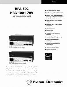 Hpa 1001-70v Manuals