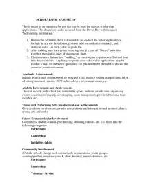 college scholarship resume objective exles how to write a resume for scholarships sles of resumes