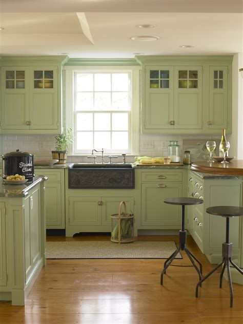 country kitchen green styling a summer country living feature paint colors 2804