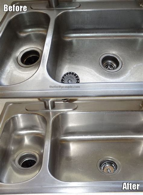 cleaning stainless steel kitchen sink how to clean a stainless steel sink and make it shine 8227