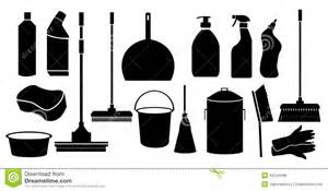 Bathroom Design Tool Cleaning Tool Icons Set Stock Vector Image 44244998