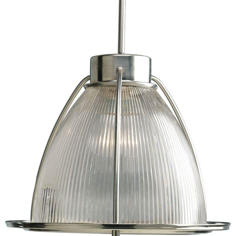 progress lighting brushed nickel 1 light pendant the
