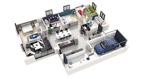 plan de chambre 3d plan de maison 3d 4 chambres