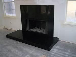 Black, Granite, Fireplace, Surround