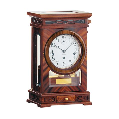 uttermost clock kieninger rosewood mechanical mantel clock 1291 56 01