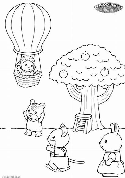Coloring Pages Sylvanian Families Kid Critters Calico