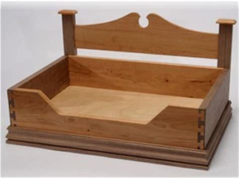 wood wooden dog bed plans blueprints  diy