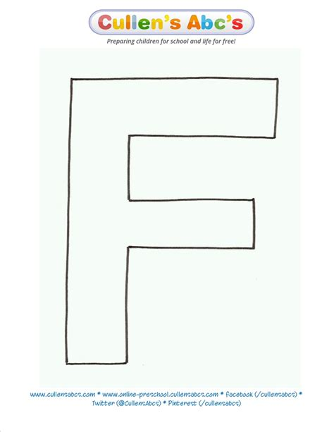 letter f template letter f uppercase pattern template www cullensabcs