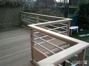 Garde Corps Terrasse Bois : terrasse bois sur pilotis avec garde corps bois et inox ~ Dailycaller-alerts.com Idées de Décoration