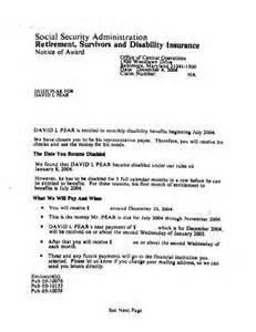 social security award letter copy