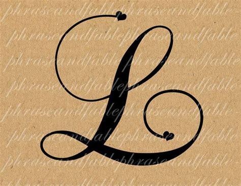Letter L Hearts 282 Digital Download Alphabet Initial Name