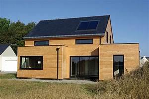 Maison En Bois Construction : maison de bois 56 construction de maison et extension ossature bois en morbihan pluneret ~ Melissatoandfro.com Idées de Décoration