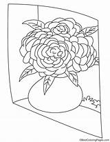 Peony Vase Coloring Pages sketch template