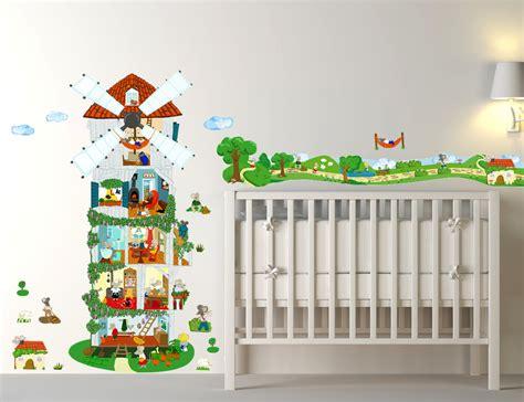 chambre bébé stickers couleur pour chambre mixte