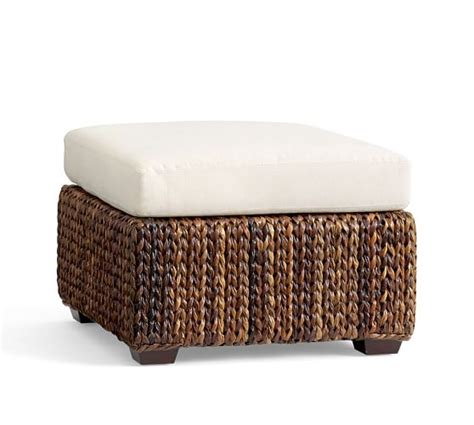seagrass square ottoman pottery barn