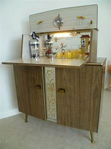 vintage retro 50s 60s home cocktail drinks cabinet bar With home martini bar furniture