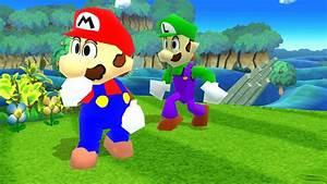 Mario Luigi RPG N64 Skins Super Smash Bros For Wii U
