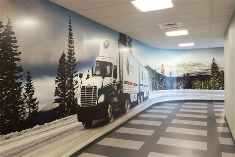 dominion freight  corporate office wall graphics