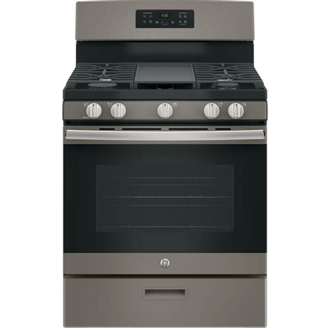 Lowes Kitchen Design Ideas - shop ge 5 burner freestanding 5 cu ft gas range fingerprint resistant slate common 30 in
