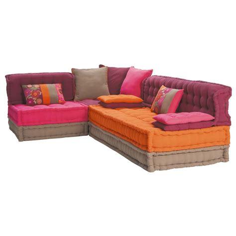canapé d angle maison du monde banquette d 39 angle 5 places en coton multicolore bolchoï