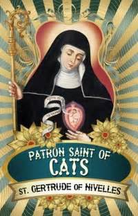 patron of cats gertrude of nivelles